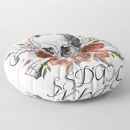 SSDGM skull and flowers Floor Pillow