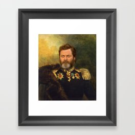 Nick Offerman Classical Painting Photoshop Framed Art Print