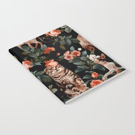 Cat and Floral Pattern II Notebook
