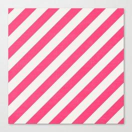 diagonal - hot pink  Canvas Print