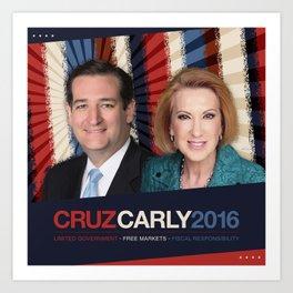 Cruz Carly 2016 Art Print