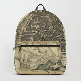 Map Of Hamburg 1841 Backpack