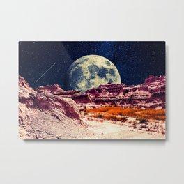 Desert Moon Metal Print