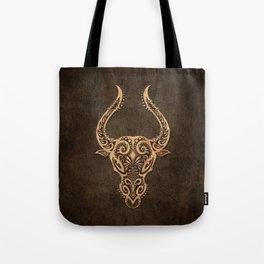 Vintage Rustic Taurus Zodiac Sign Tote Bag