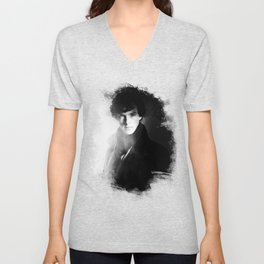 AMAZING SHERLOCK - BLACK & WHITE Unisex V-Neck