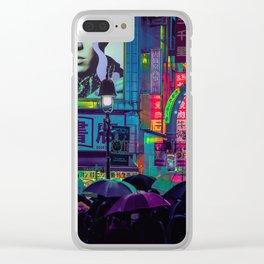 Tokyo Nights / Shibuya Neon Noir / Rain / Liam Wong Clear iPhone Case