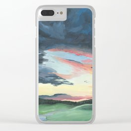 Sunset over Yellowstone Clear iPhone Case