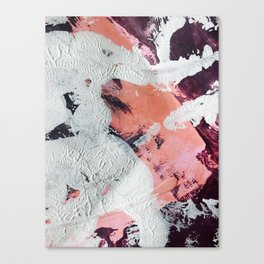 Taboo [2]: a vibrant, abstract, mixed-media piece in purple, orange, and light blue Canvas Print