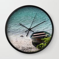 boat Wall Clocks featuring Boat by L'Ale shop
