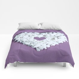 Purple You are in my heart Comforters