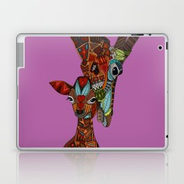 giraffe love orchid Laptop & iPad Skin