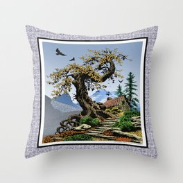 BLUE RIDGE OAK AND KOMA KULSHAN Throw Pillow