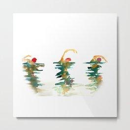 Swimming Metal Print
