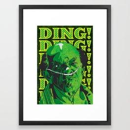 DING DING! Framed Art Print