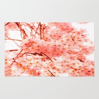 cherry blossoms Area & Throw Rugs featuring Cherry Blossoms by 2sweet4words Designs