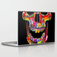 terminator Laptop & iPad Skins featuring Chromatic Skull by John Filipe