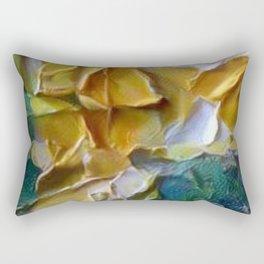 Thick Oils Yellow Ocre Rectangular Pillow