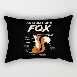 Furry Fandom T-Shirt: Anatomy Of A Fox I Dragon I Monster Rectangular Pillow