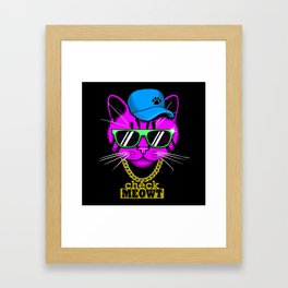 Check Meowt Bling Framed Art Print