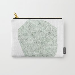 Milan Italy watercolor map Carry-All Pouch