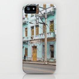 Havana Cuba Island Vintage Car Tropical Caribbean Old City Streets Landscape Cityscape Latin America iPhone Case