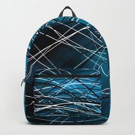 Cyan Swirling Lines Backpack