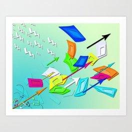 Cell Escape Art Print