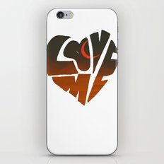 loveme iPhone Skin
