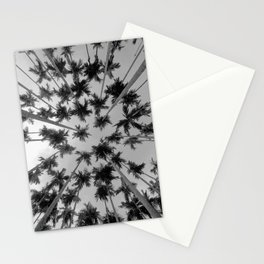 Above Palm Trees (Black and White) Stationery Cards
