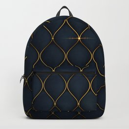 Luxurious background with golden shapes Backpack