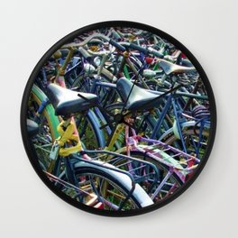 Bikes in Amsterdam Wall Clock