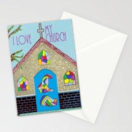 ASL I Love my Church Stationery Cards