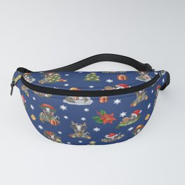 Christmas time - Frisian cow Fanny Pack