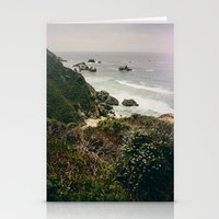 big sur Stationery Cards featuring Big Sur by Laina Brown