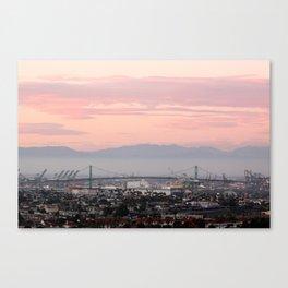 Dusk Over the Vincent Thomas Bridge Canvas Print