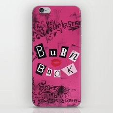 The ORIGINAL Burn Book design from the movie Mean Girls iPhone & iPod Skin