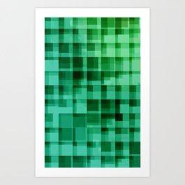 green squares pattern Art Print