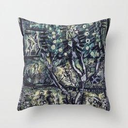 Nature through time Throw Pillow