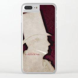 Robert Louis Stevenson, Dr. Jekyll and Mr. Hyde - Minimalist Literary Design Clear iPhone Case