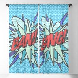 BANG Comic Book Pop Art Cool Fun Graphic Sheer Curtain