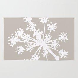 White Plant On A Grey Background #decor #buyart #society6 Rug