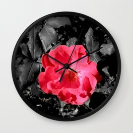 Pink Flower Study Wall Clock