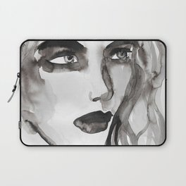 ink wash portrait Laptop Sleeve