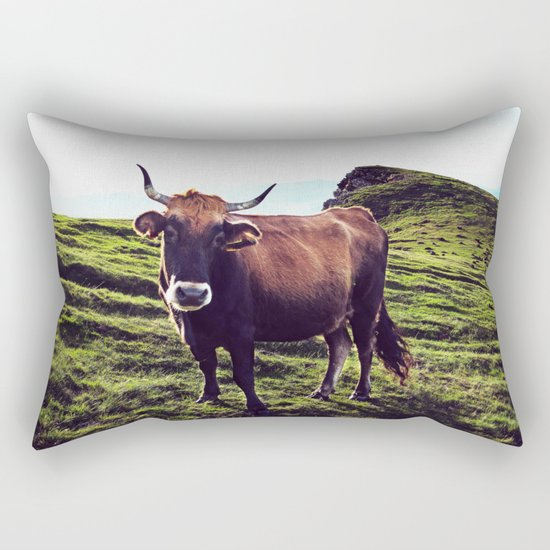 Cow in the Alps, Mountains Rectangular Pillow
