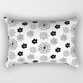 Blossom Doodle Rectangular Pillow
