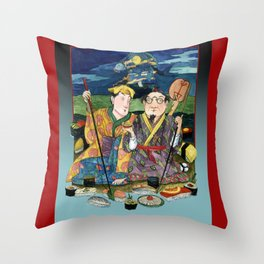 Sushi By The Sea Of Tea Throw Pillow