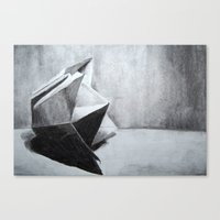 origami Canvas Prints featuring ORIGAMI by The Traveling Catburys