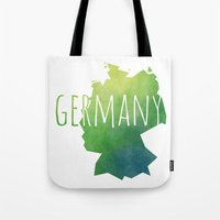 germany Tote Bags featuring Germany by Stephanie Wittenburg