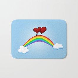 Love on rainbow Bath Mat