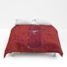 Solomon Abstract Red Modern Art Painting Shawn McNulty Comforters